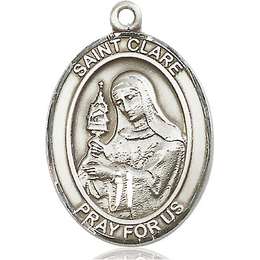 St Clare of Assisi<br>Oval Patron Saint Series<br>Available in 3 Sizes