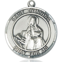 St Dymphna<br>Round Patron Saint Series<br>Available in 2 Sizes
