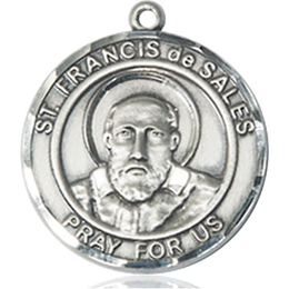 St Francis de Sales<br>Round Patron Saint Series<br>Available in 2 Sizes