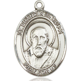 St Francis de Sales<br>Oval Patron Saint Series<br>Available in 3 Sizes