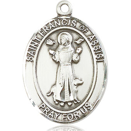 St Francis of Assisi<br>Oval Patron Saint Series<br>Available in 3 Sizes