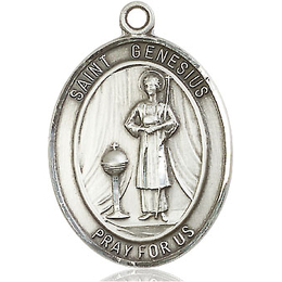 St Genesius of Rome<br>Oval Patron Saint Series<br>Available in 3 Sizes