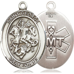 St George EMT<br>Oval Patron Saint Series<br>Available in 2 Sizes