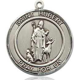 St Hubert of Liege<br>Round Patron Saint Series<br>Available in 2 Sizes