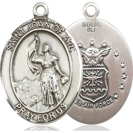 St Joan of Arc Air Force<br>Oval Patron Saint Series<br>Available in 2 Sizes