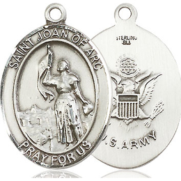 St Joan of Arc Army<br>Oval Patron Saint Series<br>Available in 2 Sizes