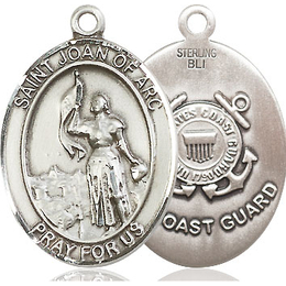 St. Joan of Arc Coast Guard<br>Oval Patron Saint Series<br>Available in 2 Sizes