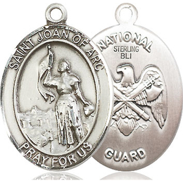 St Joan of Arc National Guard<br>Oval Patron Saint Series<br>Available in 2 Sizes