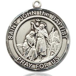 St John the Baptist<br>Round Patron Saint Series<br>Available in 2 Sizes