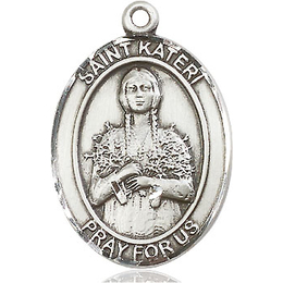 St Kateri<br>Oval Patron Saint Series<br>Available in 3 Sizes