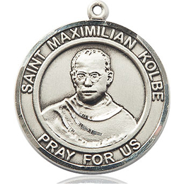 St Maximilian Kolbe<br>Round Patron Saint Series<br>Available in 2 Sizes