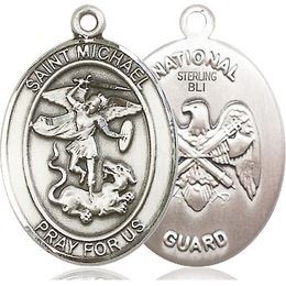 St Michael National Guard<br>Oval Patron Saint Series<br>Available in 2 Sizes