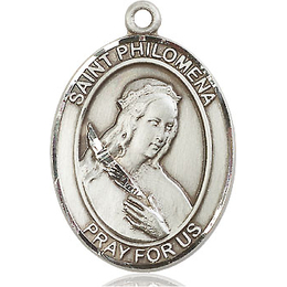 St Philomena<br>Oval Patron Saint Series<br>Available in 3 Sizes