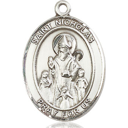 St Nicholas<br>Oval Patron Saint Series<br>Available in 3 Sizes