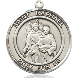 St Raphael the Archangel<br>Round Patron Saint Series<br>Available in 2 Sizes