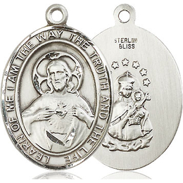 Scapular<br>Oval Patron Saint Series<br>Available in 3 Sizes