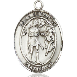 St Sebastian<br>Oval Patron Saint Series<br>Available in 3 Sizes