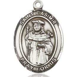 St Casimir of Poland<br>Oval Patron Saint Series<br>Available in 3 Sizes