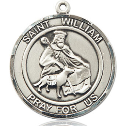 St William of Rochester<br>Round Patron Saint Series<br>Available in 2 Sizes