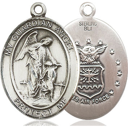 Guardian Angel Air Force<br>Oval Patron Saint Series<br>Available in 2 Sizes