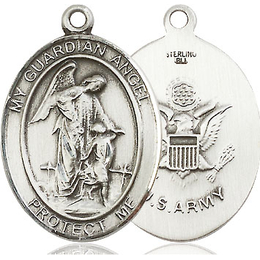 Guardian Angel Army<br>Oval Patron Saint Series<br>Available in 2 Sizes