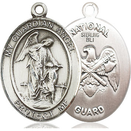 Guardian Angel National Guard<br>Oval Patron Saint Series<br>Available in 2 Sizes