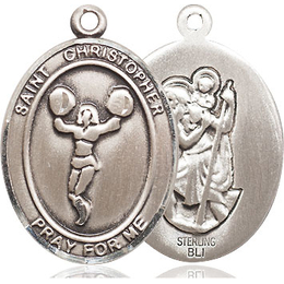 St. Christopher Cheerleading<br>Oval Patron Saint Series<br>Available in 3 Sizes