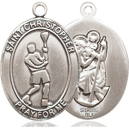 St Christopher Lacrosse<br>Available in 3 Sizes