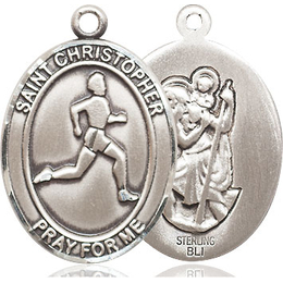 St. Christopher Track&Field<br>Oval Patron Saint Series<br>Available in 3 Sizes