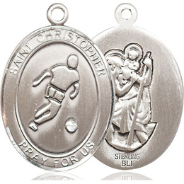 St Christopher Soccer<br>Oval Patron Saint Series<br>Available in 3 Sizes