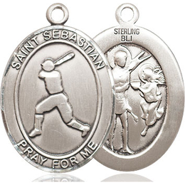 St Sebastian Baseball<br>Oval Patron Saint Series<br>Available in 3 Sizes