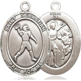 St Sebastian Football<br>Oval Patron Saint Series<br>Available in 3 Sizes