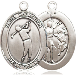 St Sebastian Golf<br>Oval Patron Saint Series<br>Available in 3 Sizes