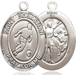 St Sebastian Soccer<br>Oval Patron Saint Series<br>Available in 3 Sizes