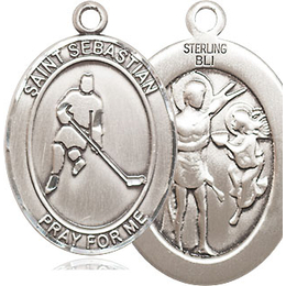 St Sebastian Ice Hockey<br>Oval Patron Saint Series<br>Available in 3 Sizes