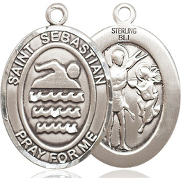 St Sebastian Swimming<br>Oval Patron Saint Series<br>Available in 3 Sizes