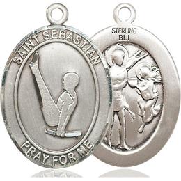 St Sebastian Gymnastics<br>Oval Patron Saint Series<br>Available in 3 Sizes