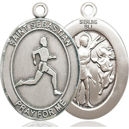 St Sebastian Track and Field<br>Oval Patron Saint Series<br>Available in 3 Sizes