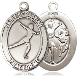 St Sebastian Figure Skating<br>Oval Patron Saint Series<br>Available in 3 Sizes