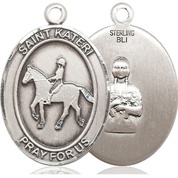 St Kateri Equestrian<br>Oval Patron Saint Series<br>Available in 3 Sizes