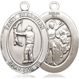 St Sebastian Archery<br>Oval Patron Saint Series<br>Available in 3 Sizes