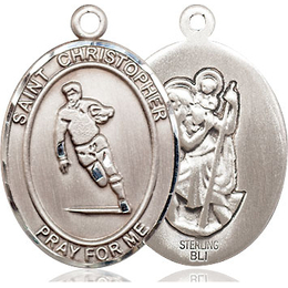 St Christopher Rugby<br>Oval Patron Saint Series<br>Available in 3 Sizes