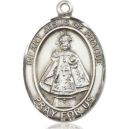 Infant of Prague<br>Oval Patron Saint Series<br>Available in 3 Sizes