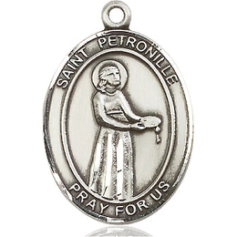St Petronille<br>Oval Patron Saint Series<br>Available in 3 Sizes