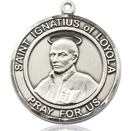 St Ignatius of Loyola<br>Round Patron Saint Series<br>Available in 2 Sizes