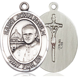 St John Paul II<br>Oval Patron Saint Series<br>Available in 3 Sizes