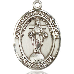 Our Lady of All Nations<br>Oval Patron Saint Series<br>Available in 3 Sizes
