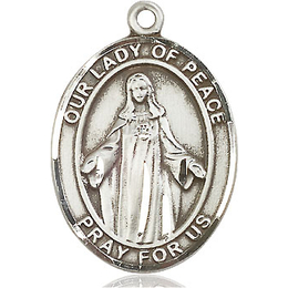 Our Lady of Peace<br>Oval Patron Saint Series<br>Available in 3 Sizes