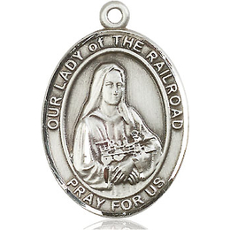 Our Lady of the Railroad<br>Oval Patron Saint Series<br>Available in 3 Sizes