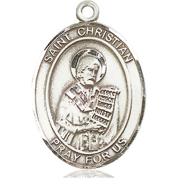 St Christian Demosthenes<br>Oval Patron Saint Series<br>Available in 3 Sizes